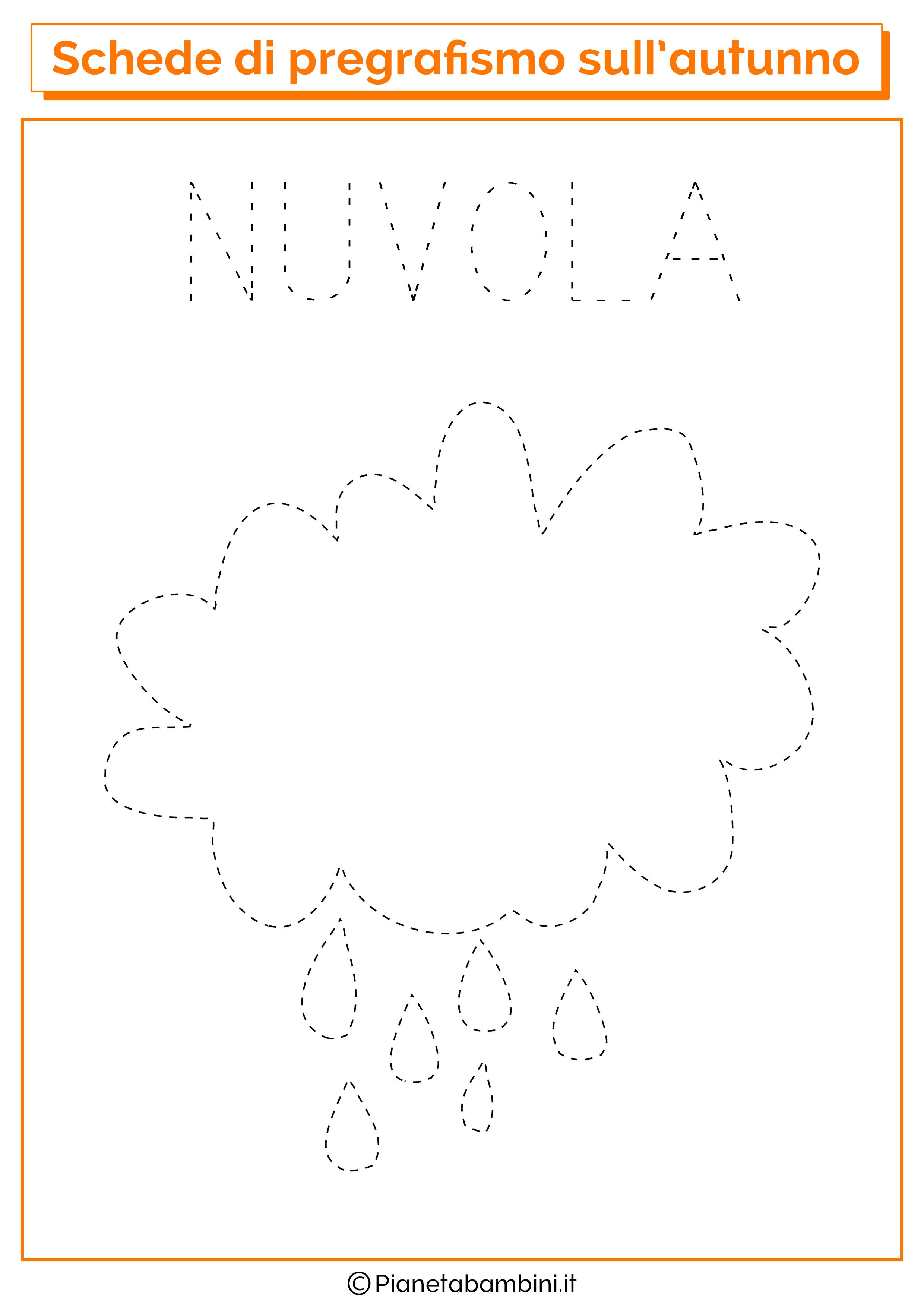 Pregrafismo autunno nuvola