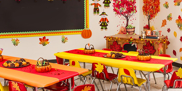 Addobbi d 39 autunno per aule della scuola dell 39 infanzia e - Addobbi natalizi per finestre scuola infanzia ...