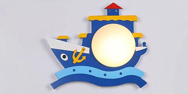 Applique a forma di barca per la cameretta dei bambini