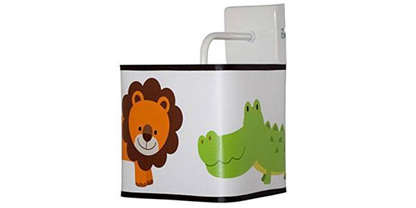 Applique con leone e coccodrillo per la cameretta dei bambini