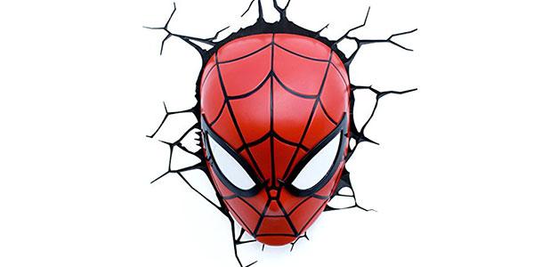 Applique con il volto di Spiderman per la cameretta dei bambini
