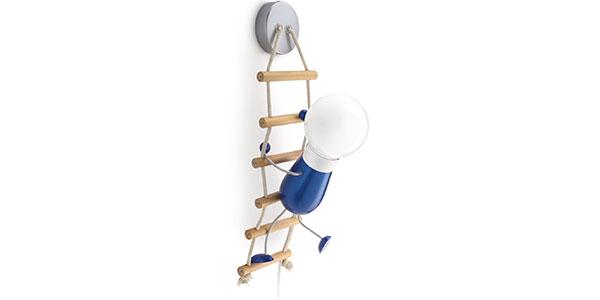 Applique a forma di omino su scala per la cameretta dei bambini