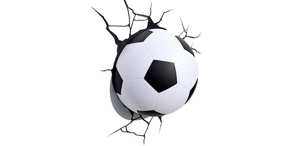 Applique a forma di pallone da calcio per la cameretta dei bambini