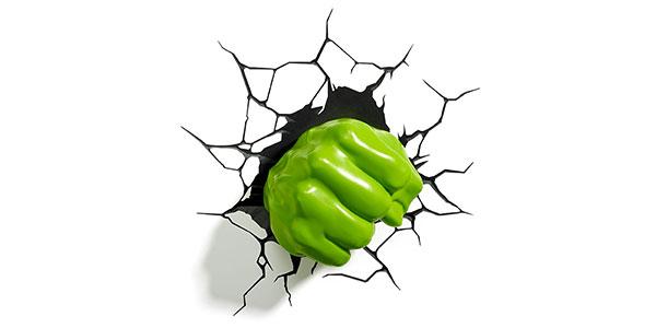 Applique a forma di pugno di Hulk per la cameretta dei bambini