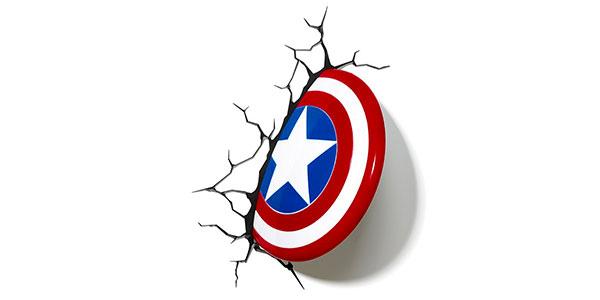 Applique a forma di scudo di Capitan America per la cameretta dei bambini