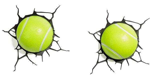 Applique a forma di pale da tennis per la cameretta dei bambini