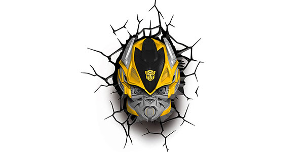 Applique di Bumble Bee dei Transformers per la cameretta dei bambini
