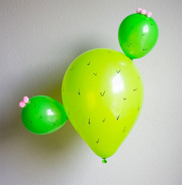 Cactus creato con palloncini