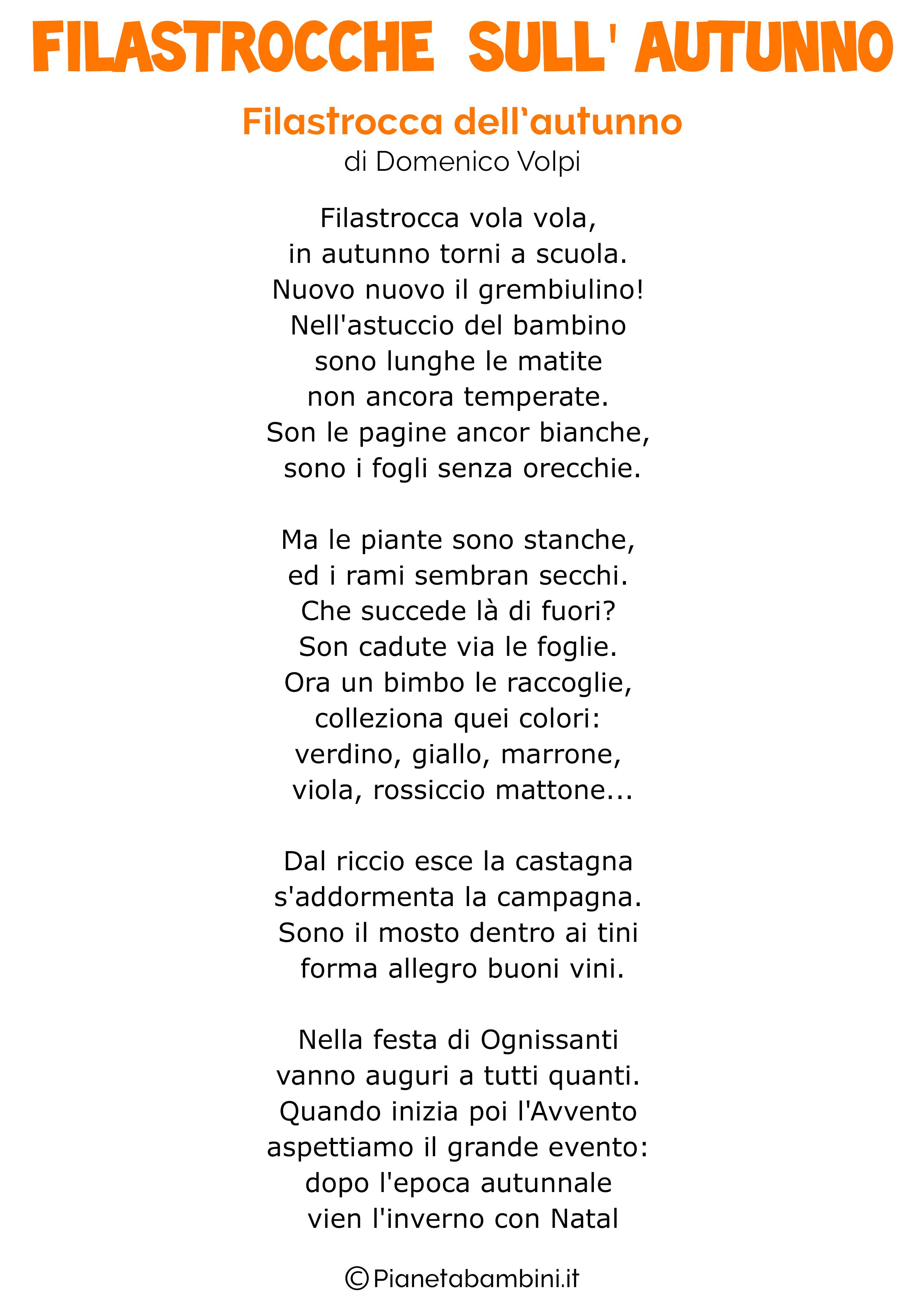 Très 30 Filastrocche sull'Autunno per Bambini | PianetaBambini.it MG13
