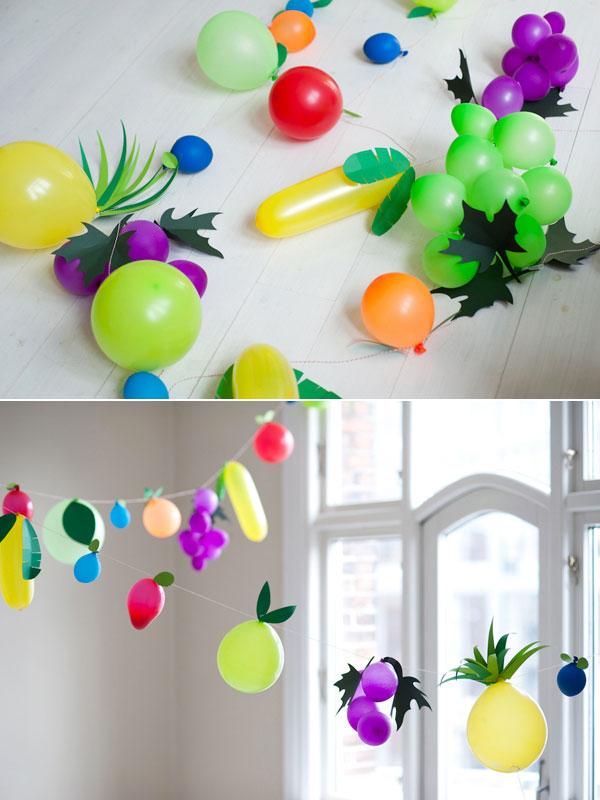 Frutta creata con palloncini