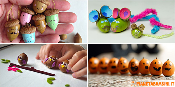 Idee per creare lavoretti con le ghiande per bambini