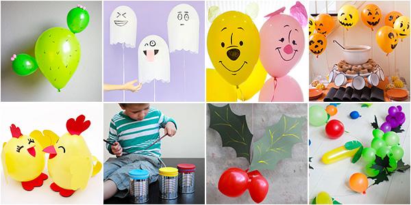 Idee per creare lavoretti con i palloncini con i bambini