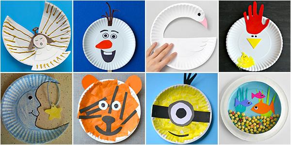 Lavoretti creati con piatti di plastica