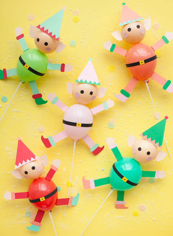 Elfi con palloncini