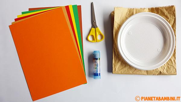 Occorrente per la creazione dell'albero autunnale di carta