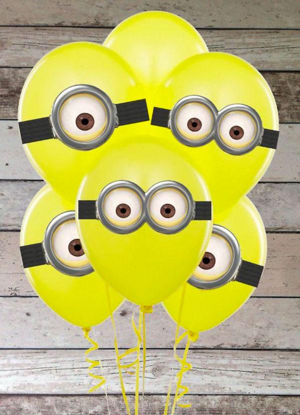 Minions creati con palloncini