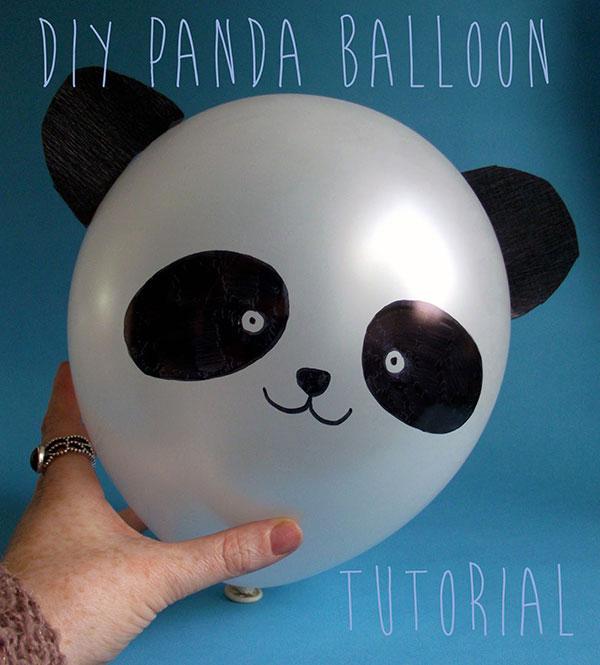 Panda creato con palloncini