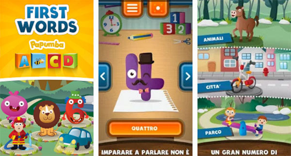 App Prime Parole Bambini dai 2 anni in su