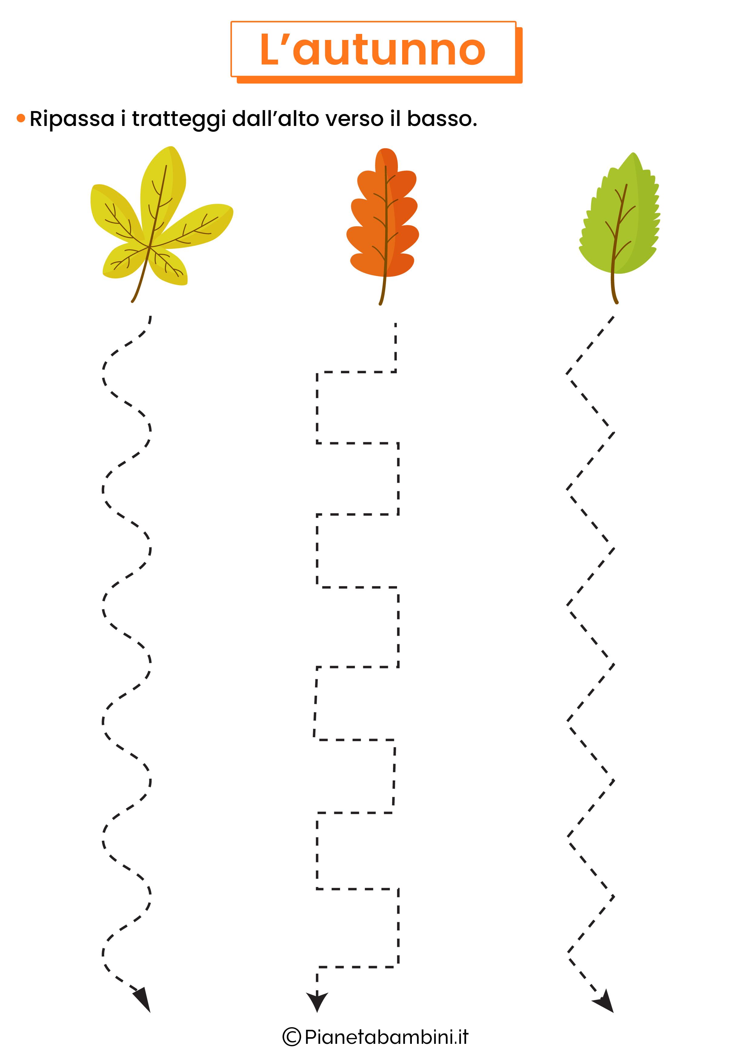 Scheda didattica sull'autunno per la scuola dell'infanzia 1