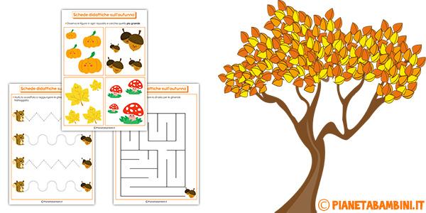 Schede didattiche sull'autunno da stampare gratis per bambini