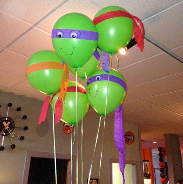 Tartarughe Ninja create con palloncini