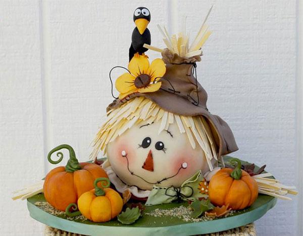 Torta autunnale in pasta di zucchero n.20