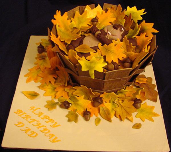Torta autunnale in pasta di zucchero n.27