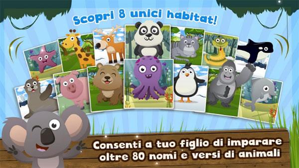 App per bambini di 2 anni Versi di Animali