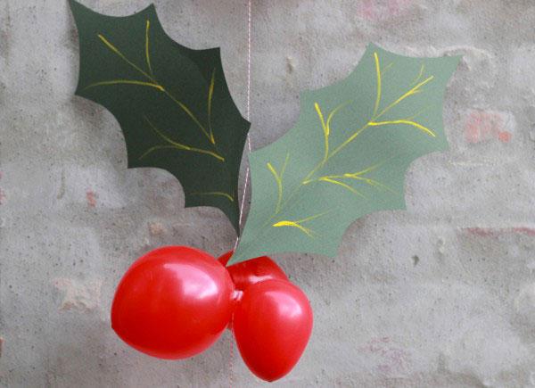 Vischio creato con palloncini