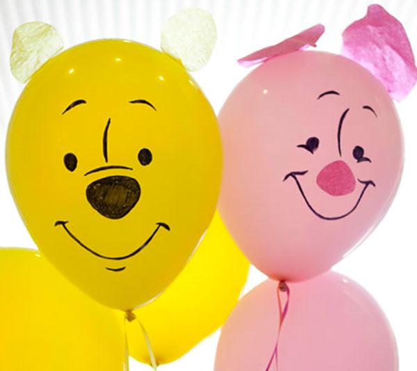 Winnie The Pooh creato con palloncini