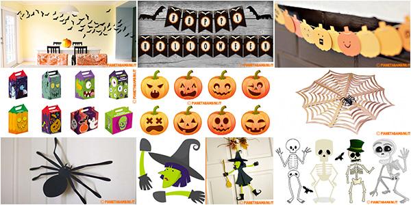 Raccolta di addobbi fai da te di Halloween da stampare gratis