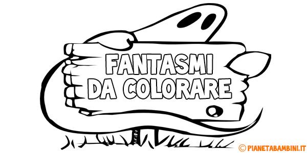 Disegni di fantasmi da stampare gratis e colorare