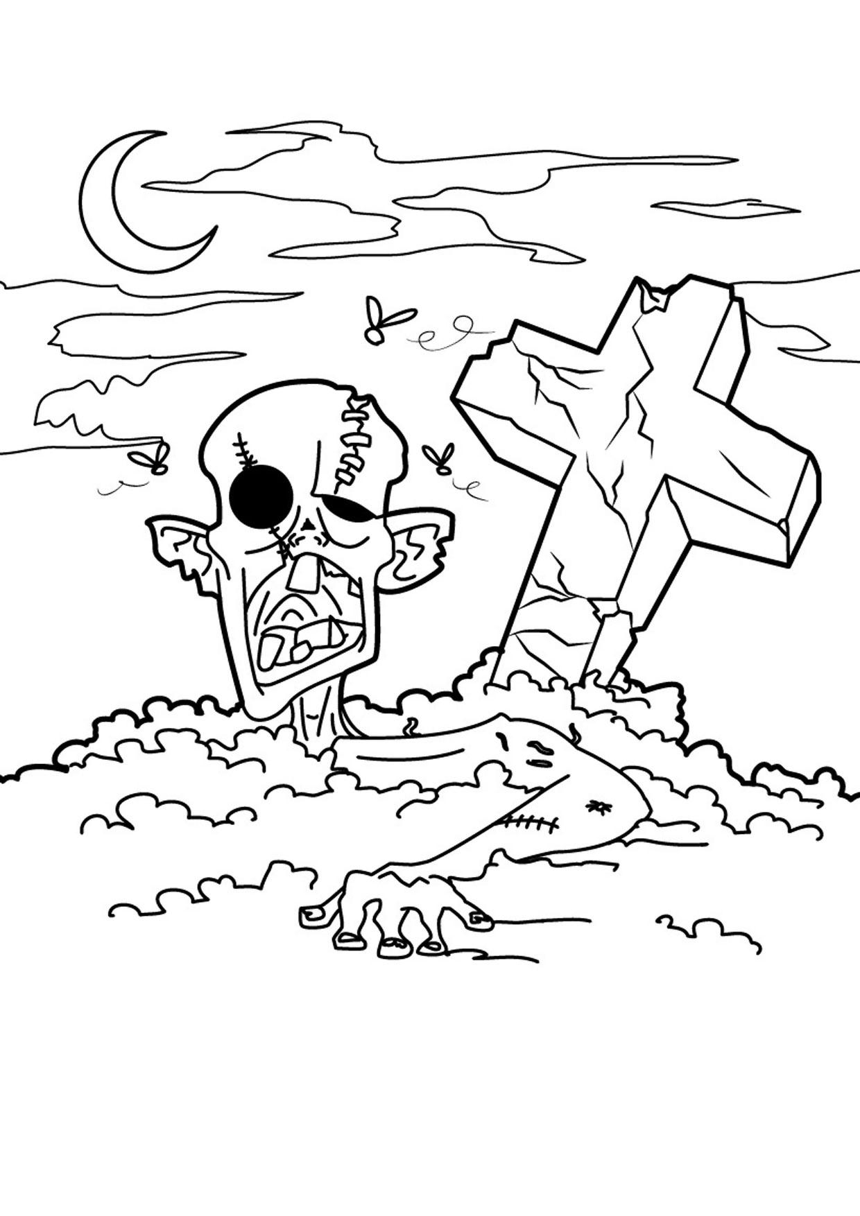 30 disegni spaventosi di halloween da colorare for Disegni di squali per bambini