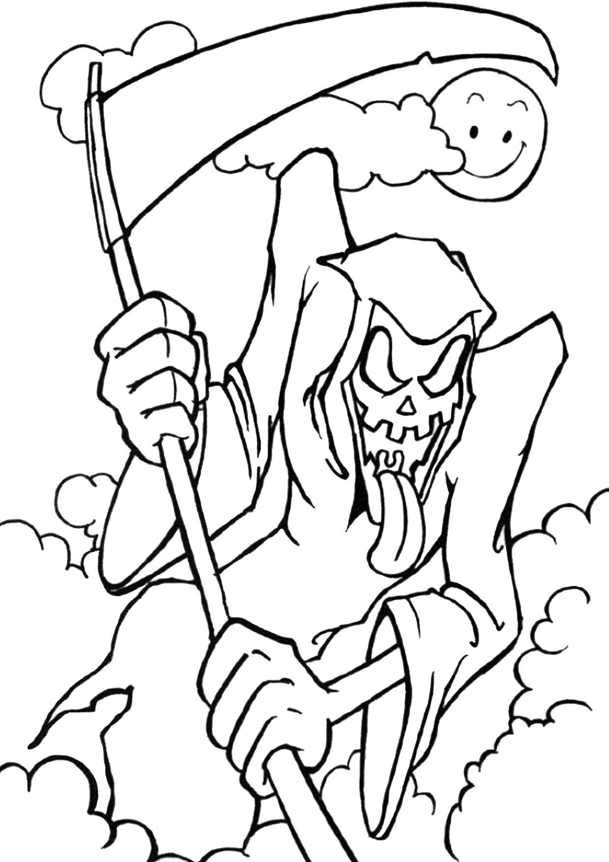 30 disegni spaventosi di halloween da colorare - Mike le pagine da colorare cavaliere ...