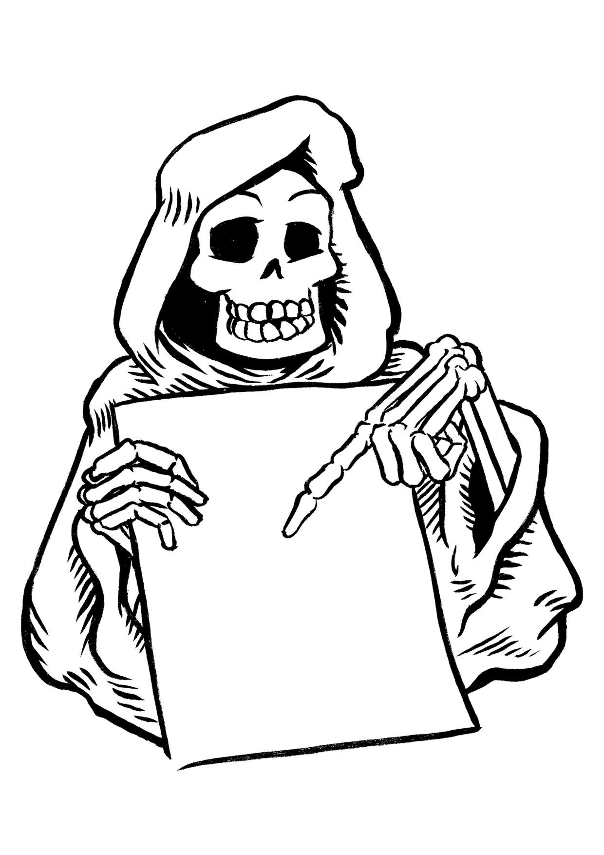 30 disegni spaventosi di halloween da colorare for Disegni di scantinati di sciopero