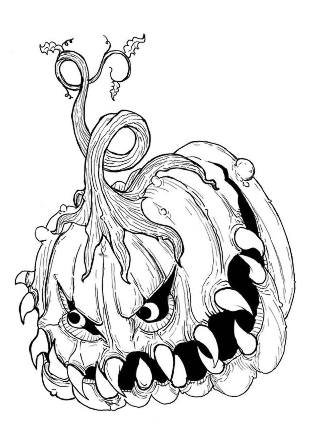 30 Disegni Spaventosi di Halloween da Colorare ...