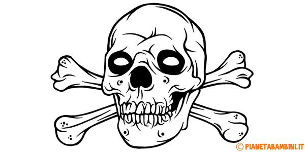30 disegni spaventosi di halloween da colorare for Immagini teschi disegnati