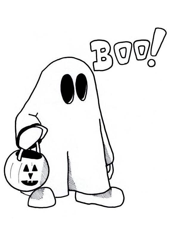 30 disegni di fantasmi da colorare