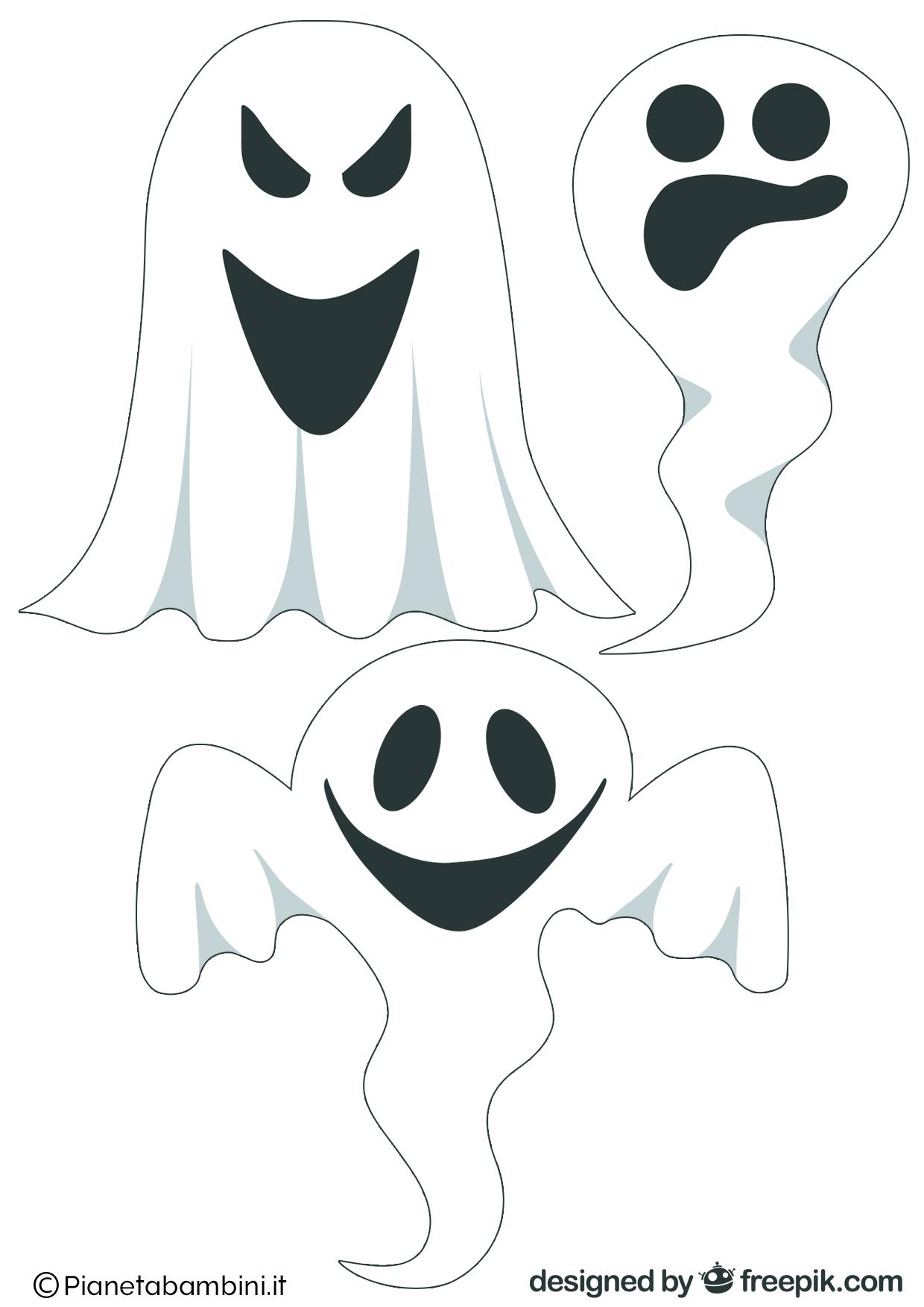 Immagini di fantasmi da stampare e ritagliare for Immagini squali da stampare