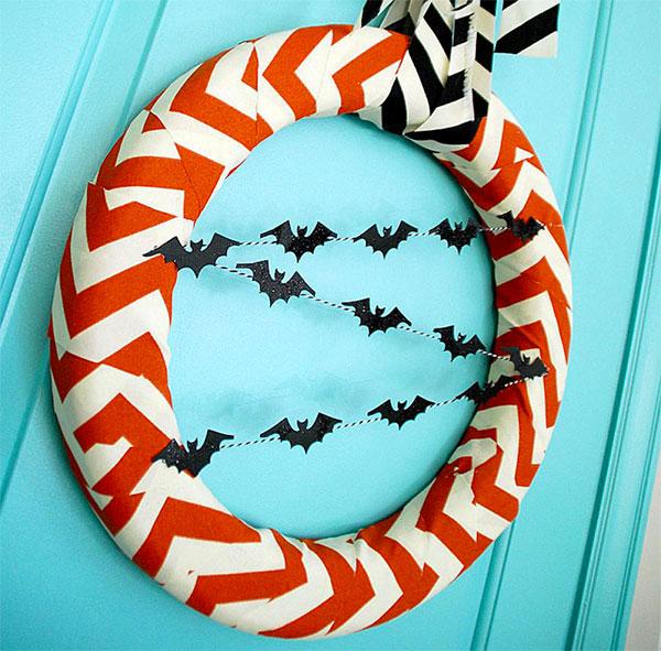 Ghirlanda di Halloween fai da te n.04