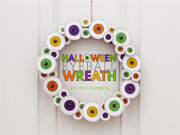 Ghirlanda di Halloween fai da te n.13