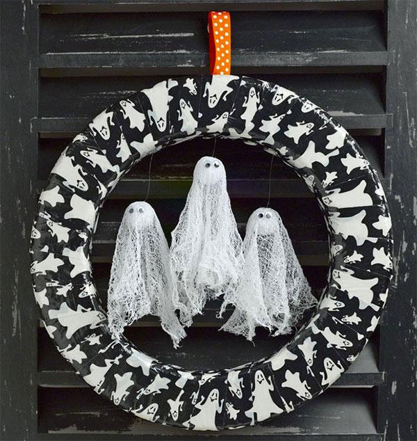 Ghirlanda di Halloween fai da te n.14