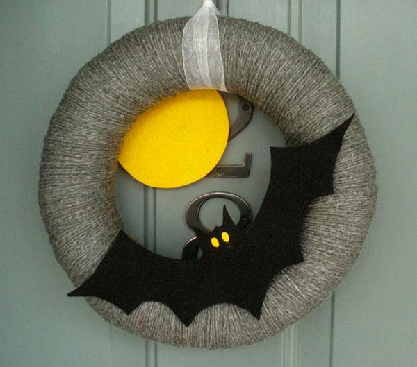 Ghirlanda di Halloween fai da te n.16