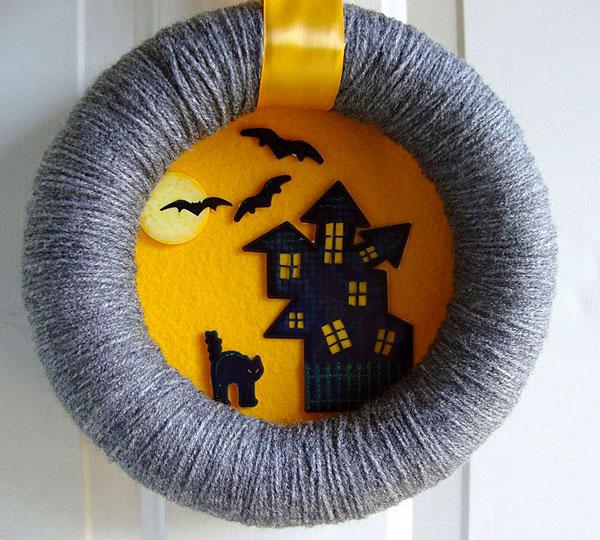 Ghirlanda di Halloween fai da te n.17