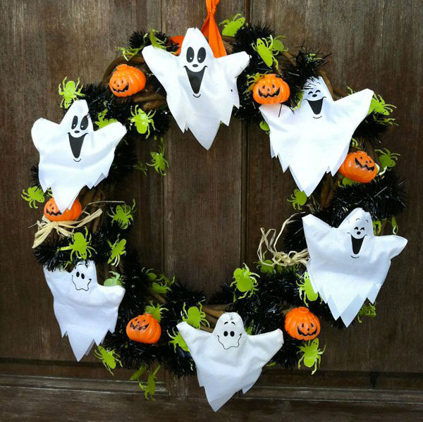 Ghirlanda di Halloween fai da te n.20