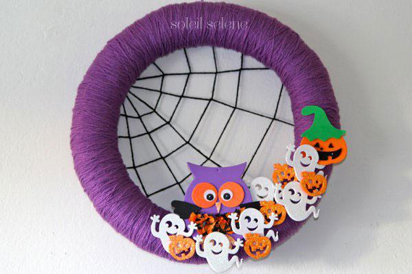Ghirlanda di Halloween fai da te n.21
