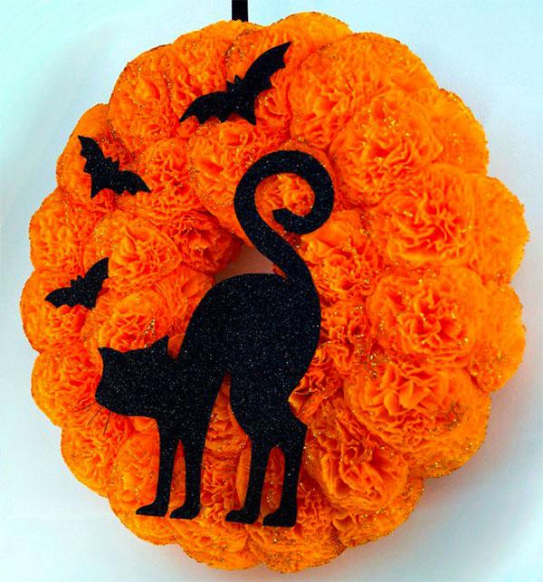 Ghirlanda di Halloween fai da te n.26