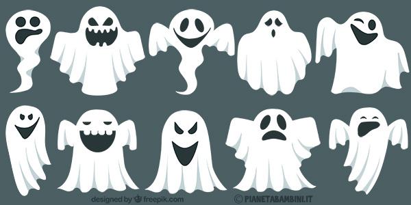 Sagome di fantasmi da stampare gratis e ritagliare