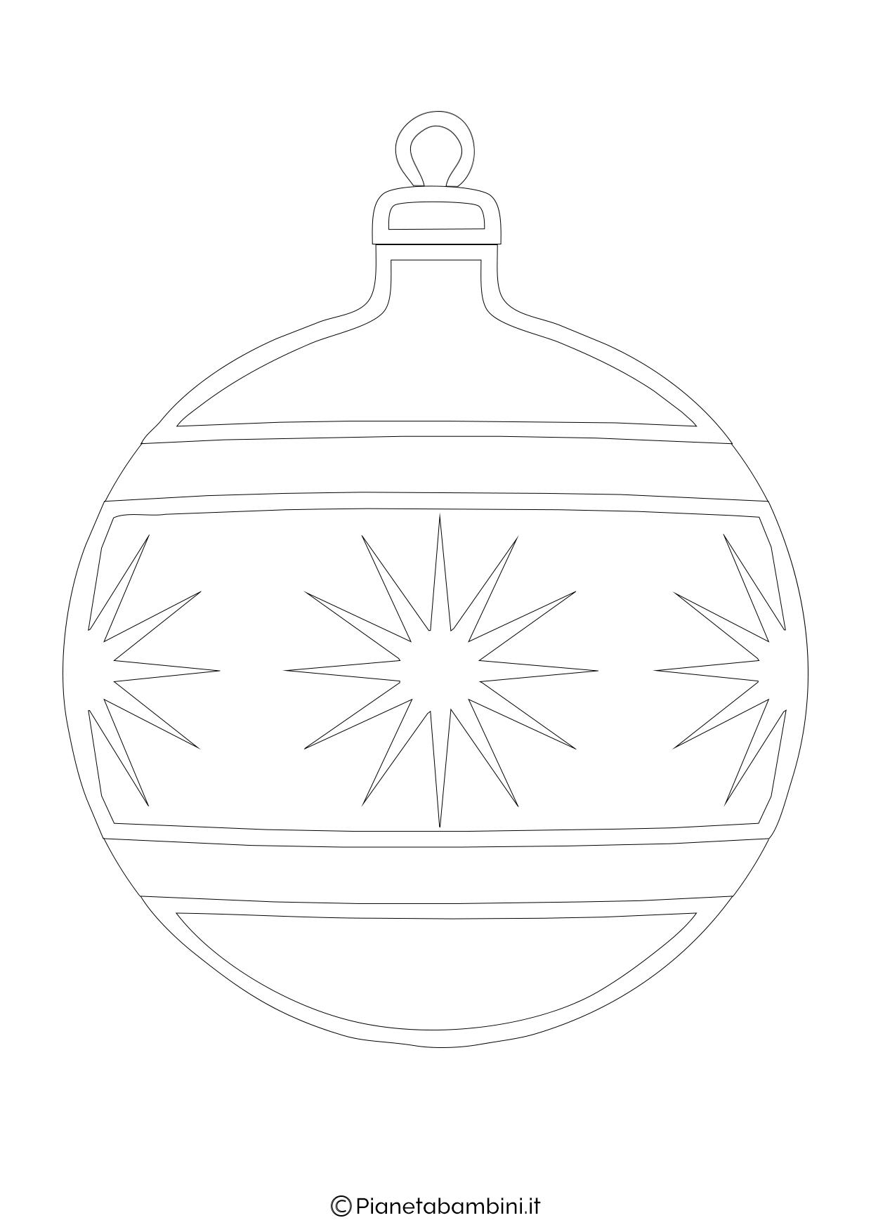 24 disegni di palline di natale da stampare e colorare for Immagini natalizie da colorare