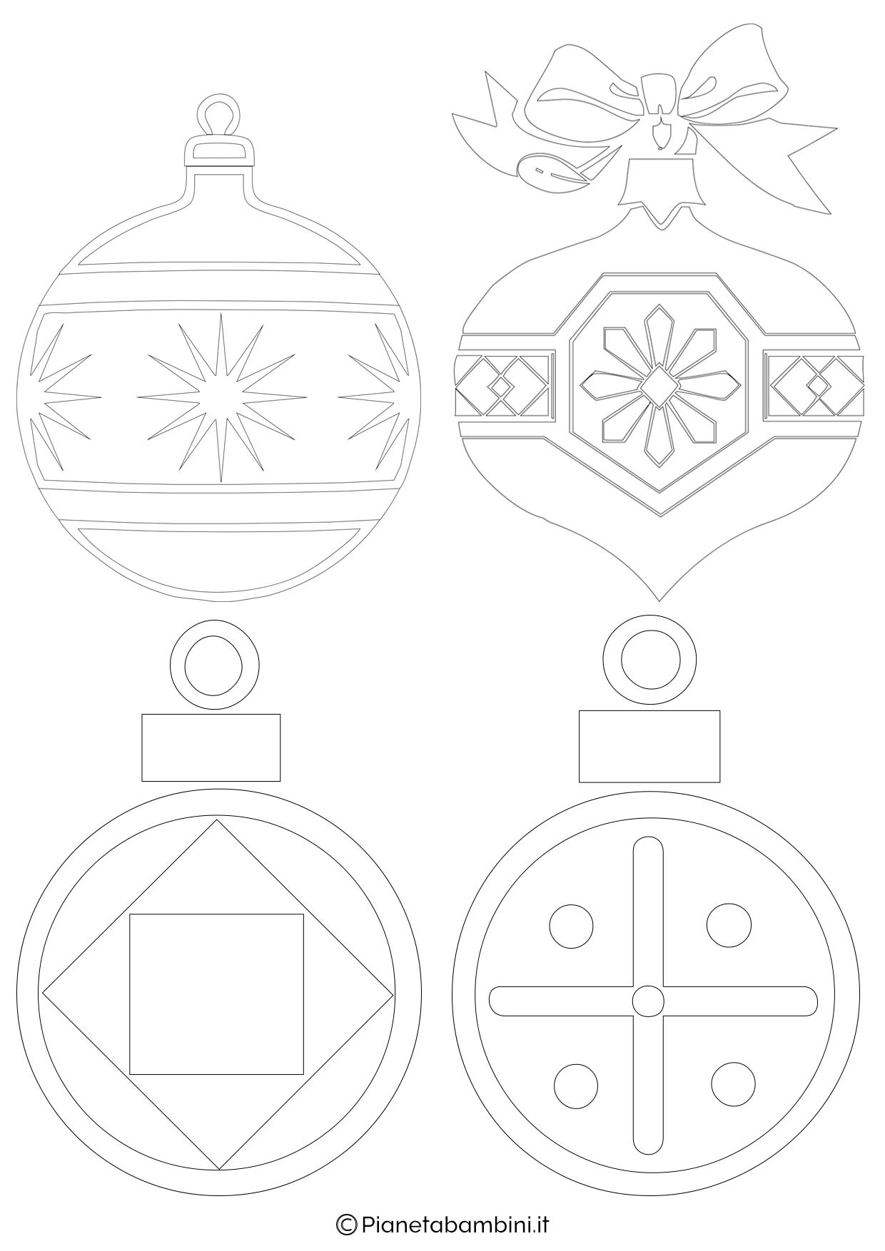 Palline di Natale da stampare 1